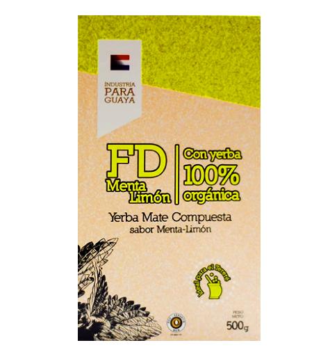 Yerba Mate Fede Rico Menta Limon  Organica 500g