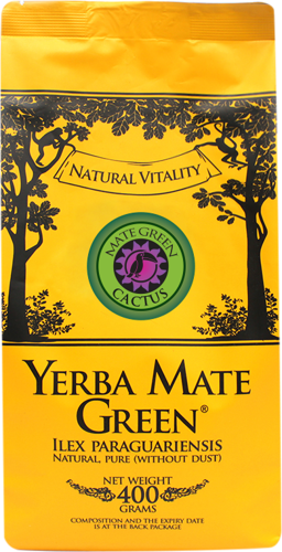 Yerba Mate Green CACTUS Sencha 400g - Mango!