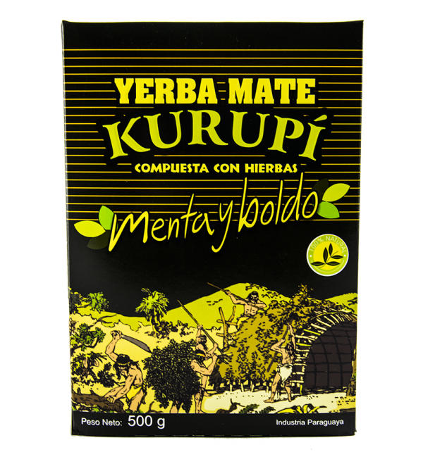 Yerba Mate Kurupi Menta Boldo 250g