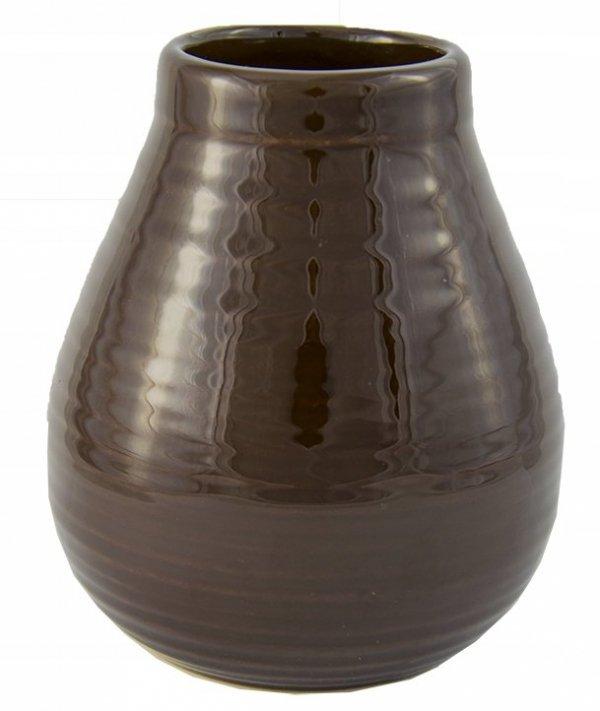 Matero Ceramiczne Calabaza Ciemny Brąz Yerba Mate