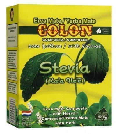 Yerba Mate Colon Stevia - 500g stewia