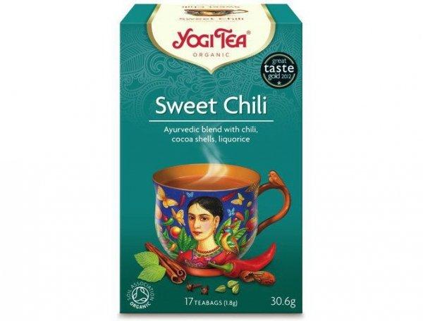 Herbata Słodkie Chili Bio (17x1,8g) - Yogi Tea