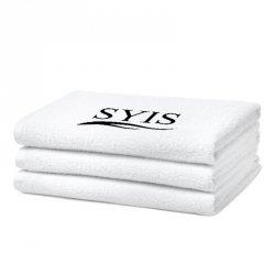 SYIS Ręcznik frotte z logo 50x90 - biały