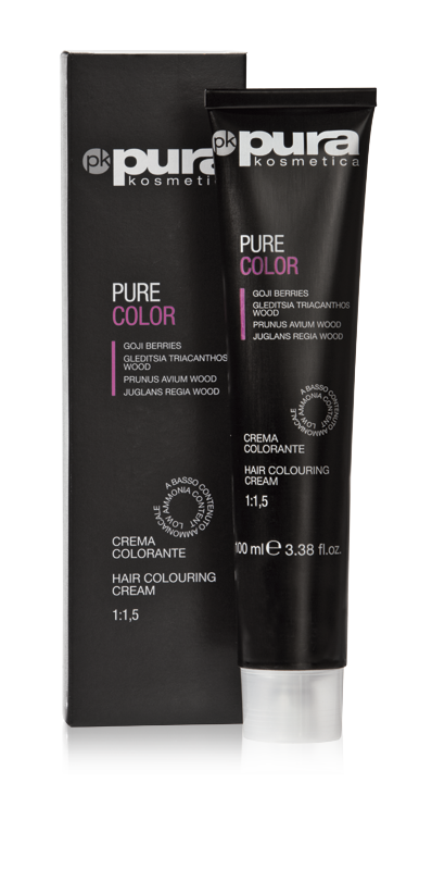 PURA PURE COLOR FARBA DO WŁOSÓW 100ML 4/4 COPPER MEDIUM CHESTNUT