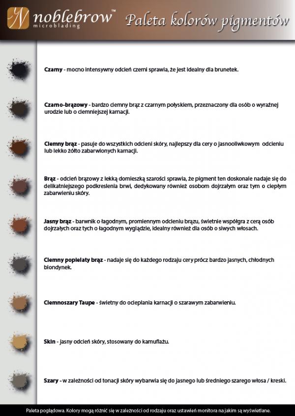 NOBLE LASHES PIGMENT KREMOWY DO MICROBLADINGU I REKONSTRUKCJI BRWI CZARNO-BRĄZOWY 5 ML