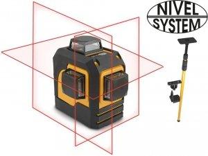 LASER KRZYŻOWY 3x360st NIVEL SYSTEM CL3D + TYCZKA LP-32