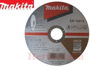 TARCZA DO CIĘCIA METALU INOX 1,0 x 125 MAKITA B-12239