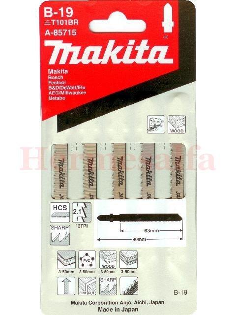 BRZESZCZOTY DO WYRZYNAREK B-19 HCS 65mm MAKITA A-85715