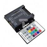 Kontroler sterownik led RGBW radiowy 288W 12/24V DC + pilot RF 24 przycisków LUX06127