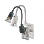 Lampa wtyczkowa z żarówką LED, 6W, GU10, 250V popi