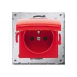Pokrywa do gniazda wtyczkowego z uziemieniem - do wersji IP44- klapka w kolorze pokrywy czerwony