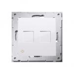 Pokrywa gniazd teleinformatycznych na Keystone płaska podwójna antybakteryjny biały