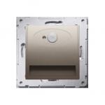 Oprawa oświetleniowa LED z czujnikiem ruchu, 14V złoty mat, metalizowany