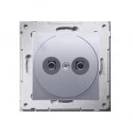 Gniazdo ekwipotencjalne do ramek Nature do ramek Premium (moduł) zaciski śrubowe 2.5, 4, 6 mm2, srebrny mat, metalizowany
