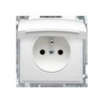 Gniazdo wtyczkowe pojedyncze w wersji IP44 -  klapka w kolorze pokrywy biały 16A