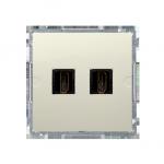 Gniazdo HDMI podwójne beżowy