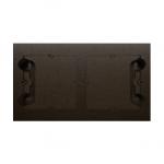 Puszka natynkowa 2-krotna brąz mat, metalizowany
