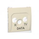 Pokrywa do gniazda antenowego R-TV-DATA beżowy