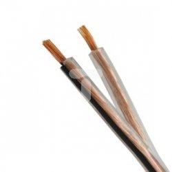 Przewód głośnikowy TLgGYp 2x1 przeźroczysty /100m/