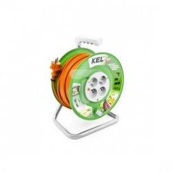 Przedłużacz bębnowy STANDARD LINE 25m H05VV-F 3x1 4xGS /+ termik/ 10A pomarańczowy