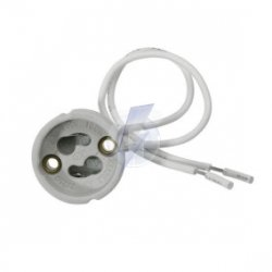 Gniazdo oprawa oprawka przyłącze ceramiczne gu10  LUX00132