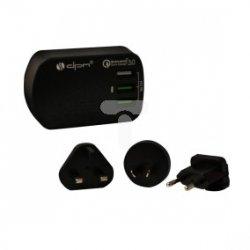 Zasilacz podróżny z ładowarką 3xUSB /USA, EUR, UK, AUS/ max. 3,4A Quick Charger CLT020