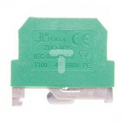 Złączka szynowa ochronna 2-przewodowa 4mm2 żółto-zielona ZUO 4/35 R33RA-01020100321