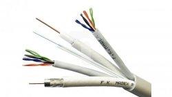 Przewód multiparowy MULTILINK 2xSAT-75 RG6 1,05/4,8 2xU/UTP 4x2x24AWG kat.5e FTTH 2J /bębnowy/