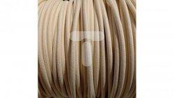 Kolorowy przewód mieszkaniowy H03VV-F (OMY) 3G 0,75 żo w oplocie tekstylnym jednobarwny perłowy PPJBPENN10 /bębnowy/