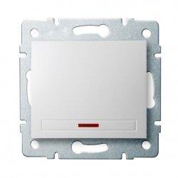Łącznik jednobiegunowy z LED DOMO 01-1110-202 bi 24723