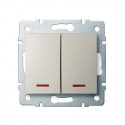 ??cznik zwierny podwójny LED LOGI 02-1023-103 kr 25130