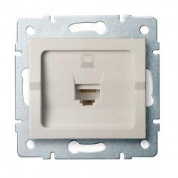 Gniazdo komputerowe pojedyncze, (RJ45Cat 6 Jack) LOGI 02-1400-003 kr 25168