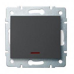 Łącznik jednobiegunowy z LED LOGI 02-1110-141 gr 25256