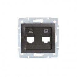 Adapter gniazdo komputerowe podwójne niezależne, (2x RJ45 Jack), bez gniazda LOGI 02-1419-041 gr 25939
