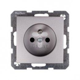 Berker/B.Kwadrat Gniazdo pojedyncze z/u 16A IP20 aluminium 5363808984