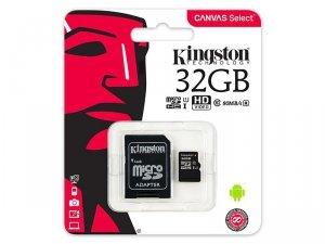 KARTA SD 32GB Karta mikro SDHC 32GB Kingston UHS-1 + adapter SD