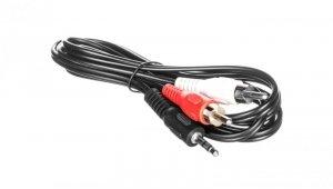 Przewód adapter Jack 3,5mm - 2x RCA 1,5m 50018