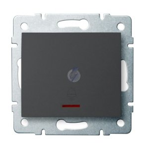 Łącznik zwierny dzwonek z LED LOGI 02-1080-141 gr 25253