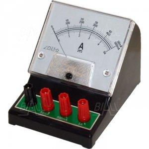 Amperomierz analog. szkolny DCA-1, 50mA-500mA-5A DC