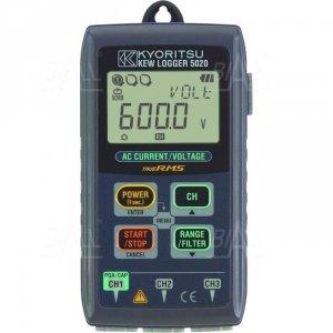 KEW5020 Logger/rejestr. prądu i napięcia AC, jakości energii 3-kan.