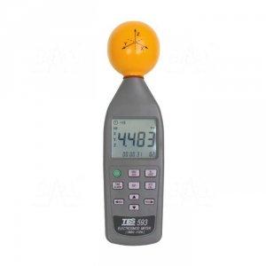 TES 593  Miernik pola elektromagnetycznego 3 osiowy 10MHz-8GHz 108V/m TES
