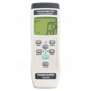 TM84 Termometr 2 kanały kl 0,05% -200 do 1370°C typ K TENMARS