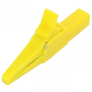 Krokodylek bezp. gn. 4mm KK262-Y CAT II 1000V 19A żółty