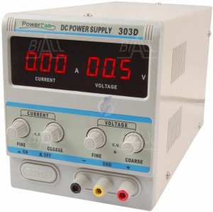 Zasilacz lab 303D 30V/3A DC LED PowerLab