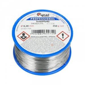 Cyna-spoiwo LC60 0.50/0.25 Sn60Pb40 0.5mm/0.25kg Cynel