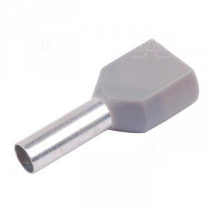 KR040012x2 GY Tulejka izolow. 2x 4,0mm2x12   100szt