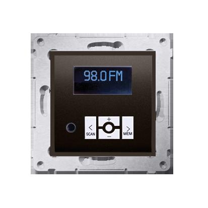 Radio cyfrowe z wyświetlaczem brąz mat, metalizowany