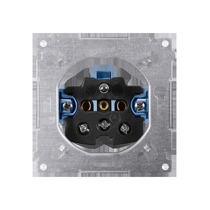 Gniazdo wtyczkowe pojedyncze z uziemieniem (mechanizm) 16A 250V,