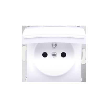 Pokrywa do gniazda wtyczkowego z uziemieniem - do wersji IP44- klapka w kolorze pokrywy biały
