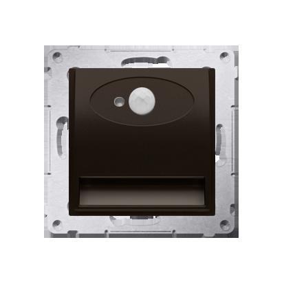Oprawa oświetleniowa LED z czujnikiem ruchu, 14V brąz mat, metalizowany
